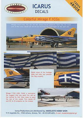 Colorful Mirage F.1Cgs Icarus Decals 72004 1/72