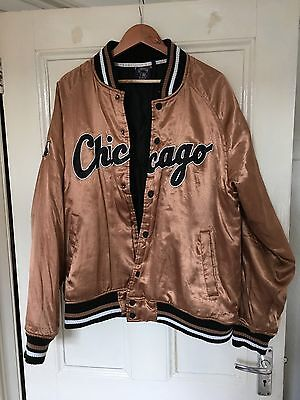 Vintage Gold Chicago White Sox Bomber Jacket XL