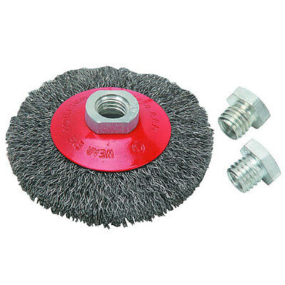 """NEW 4"""" Crimped Carbon Steel Wire Bevel Brush"""