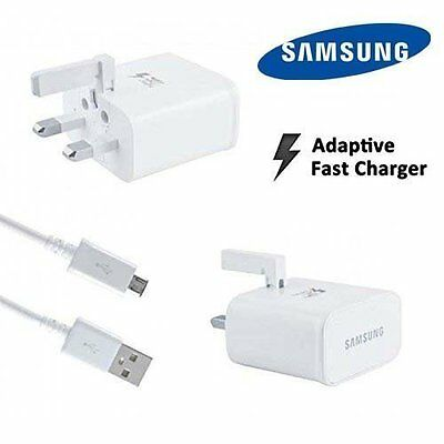 Samsung Fast Charger/ Car Charger & Cable For Samsung Galaxy S7 S6 Edge Note 4 5