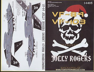 F-14A Tomcat Vf-84/103 Jolly Rogers Fightertown Decals 14405 1/144