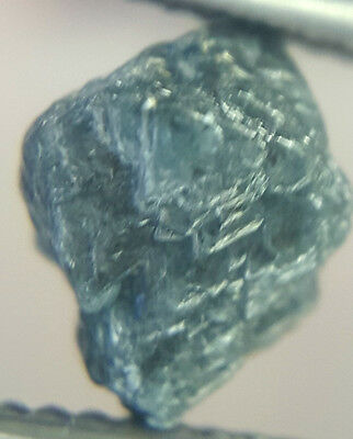 2.76TCW Natural Loose Raw Rough Diamond Natural Shape Greenish Blue Color