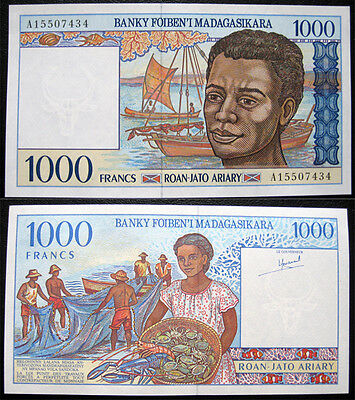 Madagascar 1000 Ariary 1994 Unc Banknote (P76)