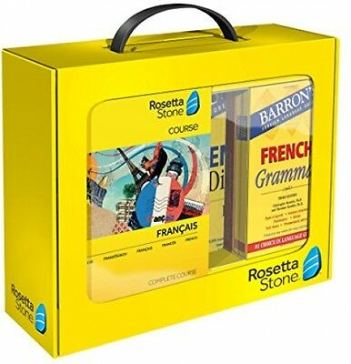 Rosetta Stone French Course Software Pc Bundle Grammar Phrase Book Dictionary
