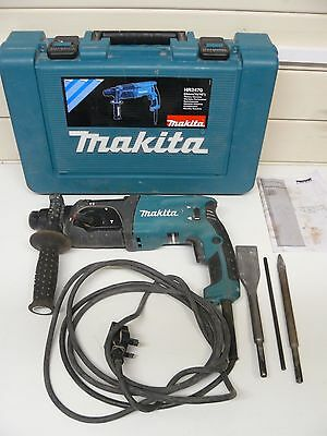 Makita HR2470 Hammer Drill 3 Mode SDS Plus Rotary Corded Drill boxed with tools