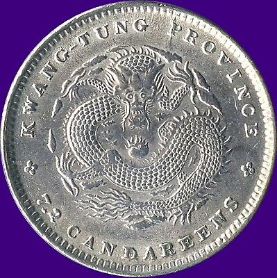 China Kwangtung Province 10 Cents Silver Coin