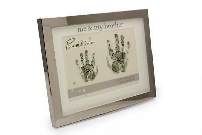 Me and My Brother Hand Print Silver Plated Frame Gift With Ink Pad CG1395