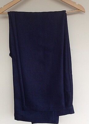 Mens Navy Blue Trousers W36 L31