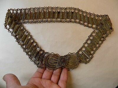 Ancient Handmade Islamic Bronze Belt