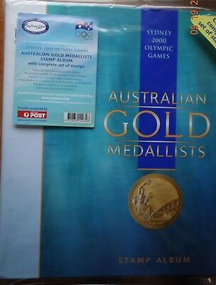 Sydney 2000 Olympics Australian Gold Medallists Stamp Album 16 Sheets of 10x45c