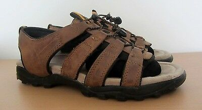 Mens Hush Puppies Brown Leather Gladiator Sandals Size Uk 8 Eu 42