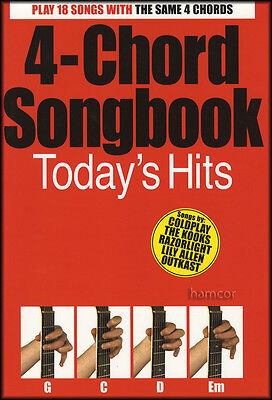 4-Chord Songbook Today's Hits Easy Guitar Chord Song Book