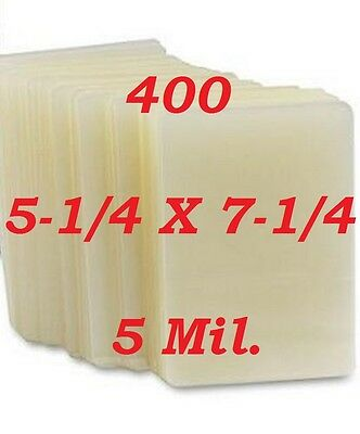5 Mil Laminating Pouches Film Sheets Photo 5-1/4 x 7-1/4  (400 Pack)