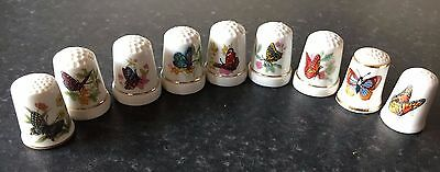 Collection of Nine ButterflyThimbles