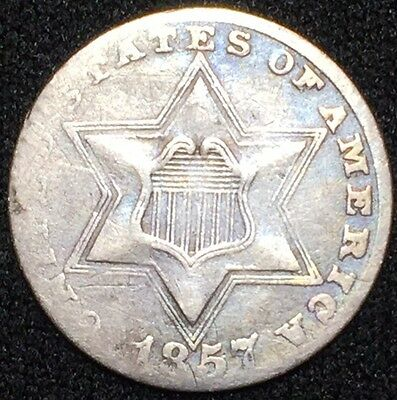 1857 3C Three Cent Silver GM2739