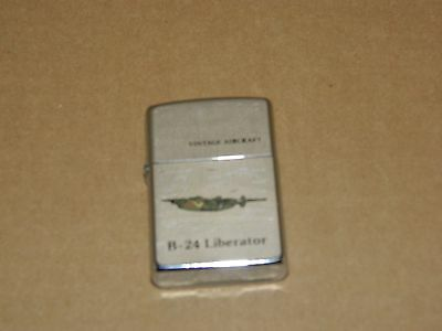 Vintage Zippo Lighter Made in USA Vintage Aircraft Series B-24 Liberator