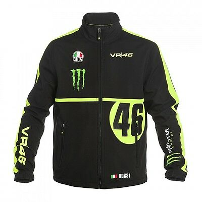 OFFICIAL Valentino Rossi VR46 MONSTER Moto GP Soft Shell Jacket Coat - NEW