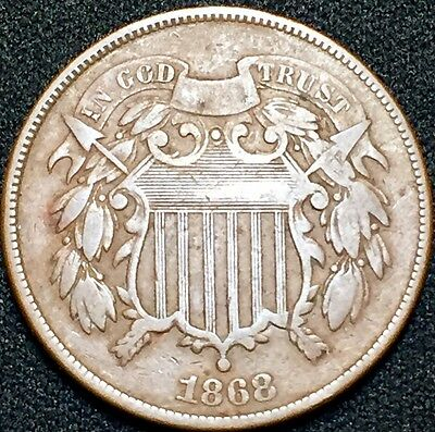 1868 2C Two Cent Piece GM2694