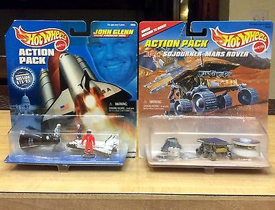 Hot Wheels Action Pack John Glenn Space Exploration & Mars Rover RARE 1:64 Scale