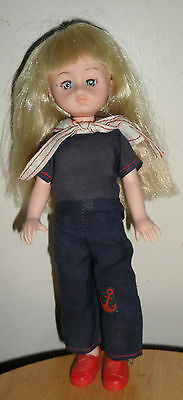 Vintage GINNY 1977 Small Vogue DOLL Dressed in a SAILOR Suit
