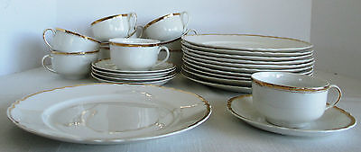 Pope Gosser Gold & White China 26 pieces Made in U S A