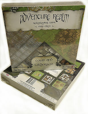 Adventure Realm RPG Map Tiles - Town and Wilderness Set *BRAND NEW*