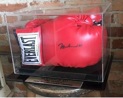 Muhammad Ali Signed Glove In Custom Display Case