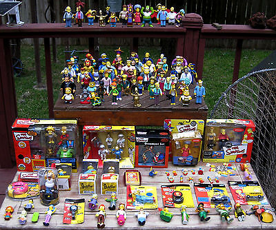 """200 + Huge Lot """"the Simpsons"""" Figures Playmates Collection. Loose, New, Rare."""