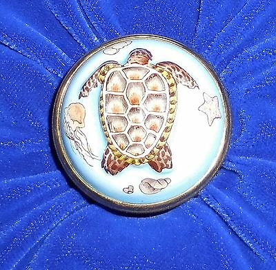 Halcyon Days Turtle enamel  box in original box with labels
