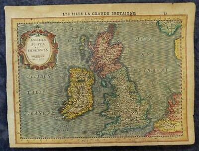 Great Britain England Wales Scotland Ireland Ulster Engr.map Mercator 1630