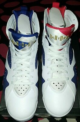 [304775-123] Air Jordan 7 Retro White Gold Royal Blue Mens Sneaker Size 12
