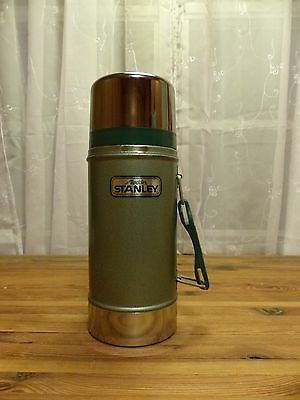 Vintage Stanley Thermos 24 oz Wide Mouth with Handle Vacuum Bottle