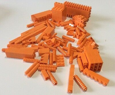 Lego Collection Of Various Bricks And Pieces - Orange