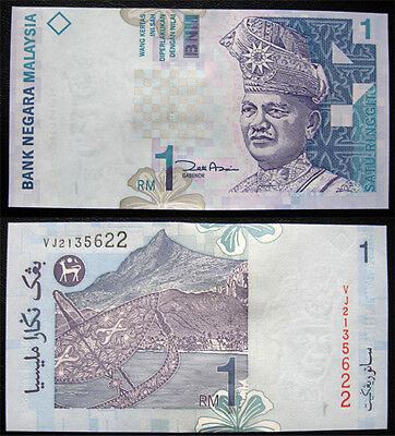 Malaysia 1 Ringgit 2000 Unc Banknote (P39)