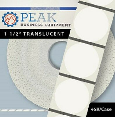1.5″ Translucent Wafer Seals Tabs - 15,000 roll / 45,000 case #150T15