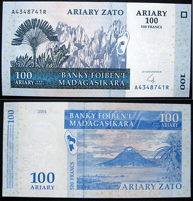 Madagascar 100 Ariary 2004 Unc Banknote (P86)