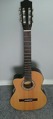 Left Handed Stagg C546 TCE Electro Acoustic Classical Guitar FREE POST
