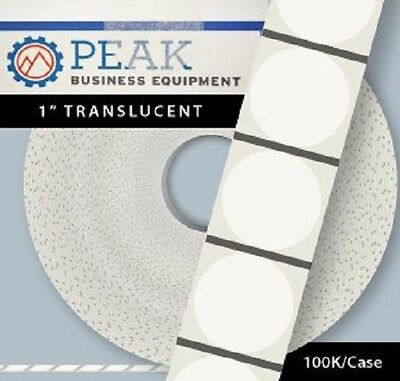 1″ Translucent Wafer Seals Tabs - 20,000 roll / 100,000 case #1T20