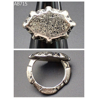 Medieval times Ancient Language Writing Silver Plated Ring #715