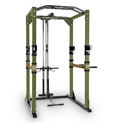 Tremendour Multi Gym Power Rack Cage Pull Up Bar Strength Training Lat Green New