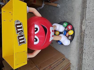 Rare with wheels Red M&M Candy Character Large Store Display