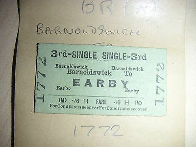BRITISH RAILWAYS BR ( M )BARNOLDSWICK to EARBY 1772  Dated 23AUG52