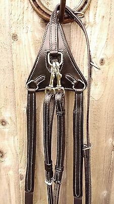 FULL size ENGLISH COMPETITION Elasticated BREASTPLATE, Black, NEW