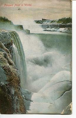 Postcard Prospect Point In Winter Vntage 1913