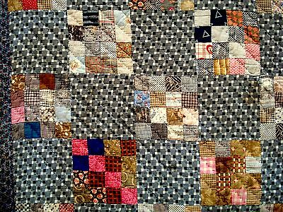 Vintage Antique Victorian Late 1800's 16 patch Quilt cutter quilt