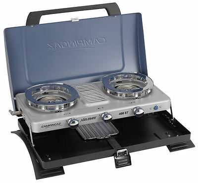 Campingaz 400 ST 2 Burner Portable Gas Stove Table Top Cooker With Grill