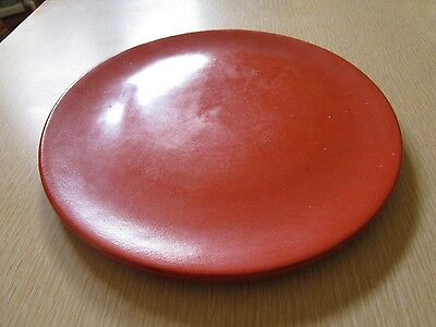 "Catalina Island 10"" Flat Orange Toyon Dinner Plate"