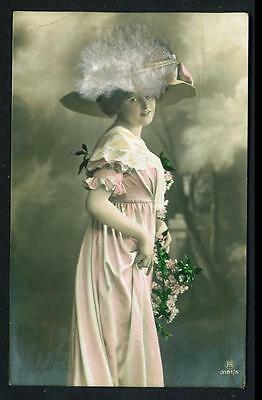 Novelty (Appliqued Materials) 'Feathered Hats' – Used – 1912