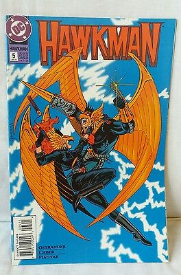 Hawkman Comic Book Issue 5, January 1994 A Rage Of Hawks - VGC