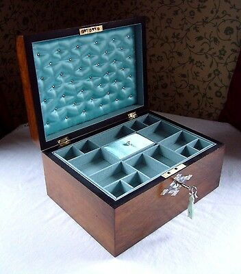 Antique Victorian  Walnut Mother Of Pearl & Abalone Inlaid Domed Jewellery Box